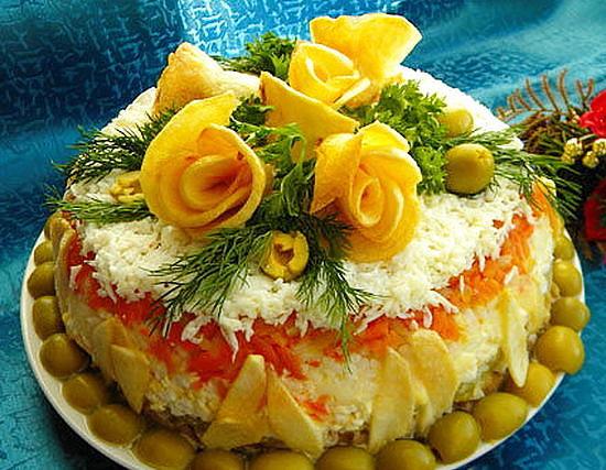 Рецепты праздничных салатов с фото на день рождения
